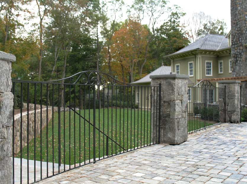 Ornamental Entrance Gates Post Road Iron Works