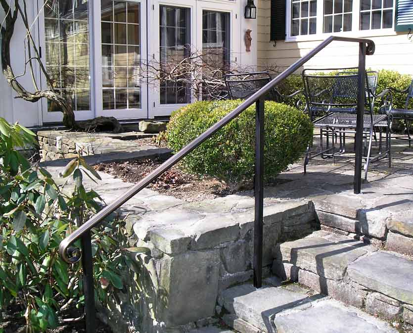 outdoor metal stair railing / prefab metal stair railing