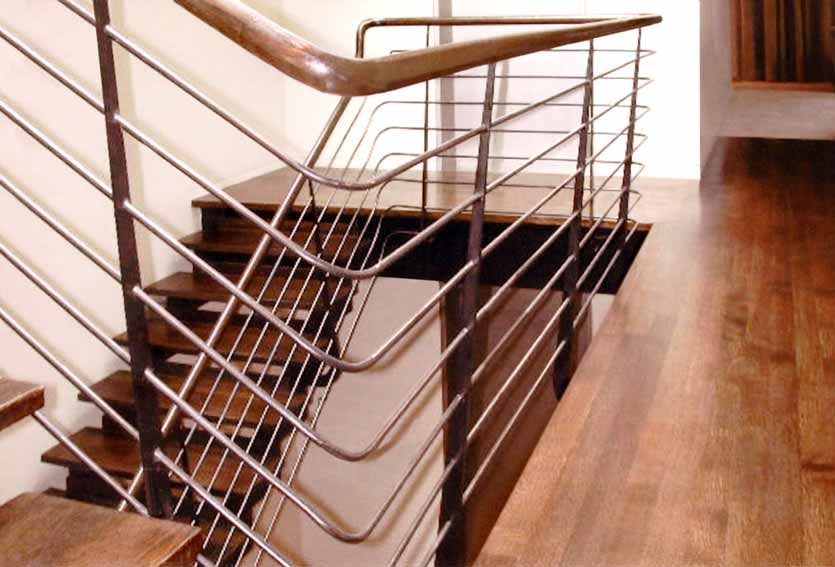 Steel Stair With Stainless Steel Railings