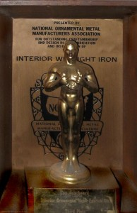 National Ornamental and Miscellaneous Metals Association Interior Wrought Iron Awards