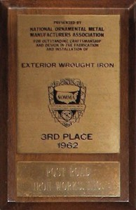 National Ornamental and Miscellaneous Metals Association Exterior Wrought Iron Awards