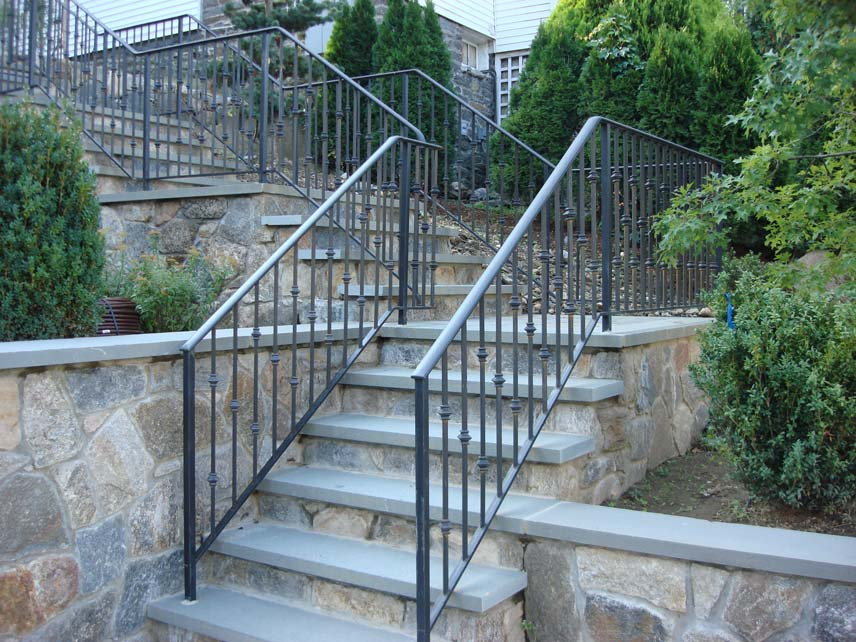 Standard Railing With Turned Knuckle Baers Free Consultation Estimates Post Road Iron Works